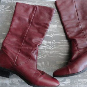 Red Leather Boots - Made in Brazil - Vintage - 6.5